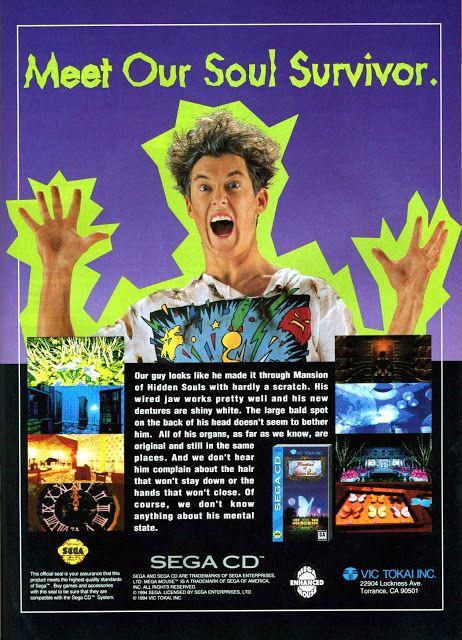 Mansion of Hidden Souls (Sega CD)        - http://megalextoria.blogspot.com/2018/02/mansion-of-hidden-souls-sega-cd.html #SegaCD #SegaGenesis #Sega #Genesis #MansionOfHiddenSouls #VicTokai #retrogaming