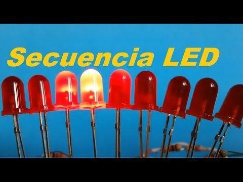 ✅ Secuencia de  LEDs con 555 y 4017 (Como se hace)