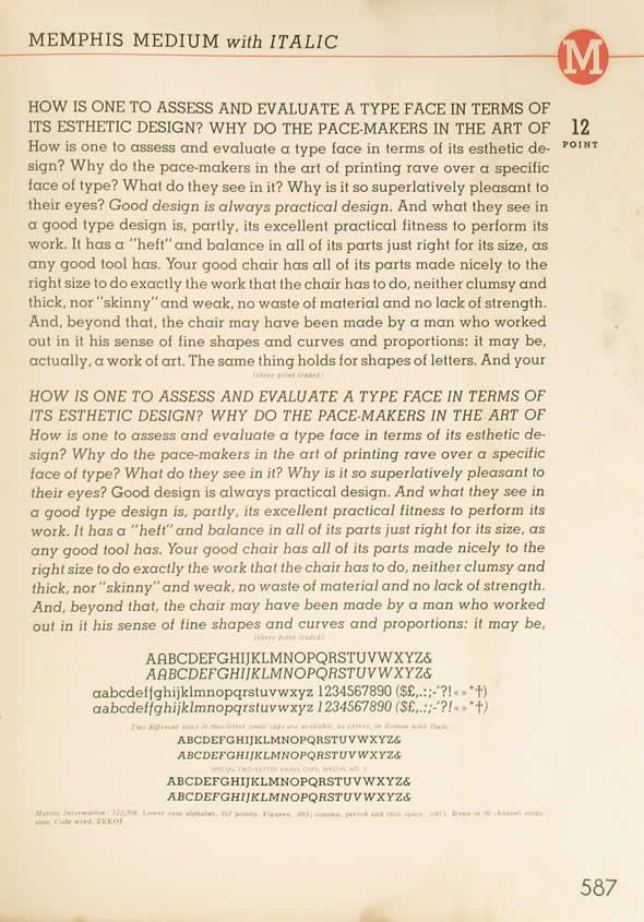 Catalog Linotype Faces