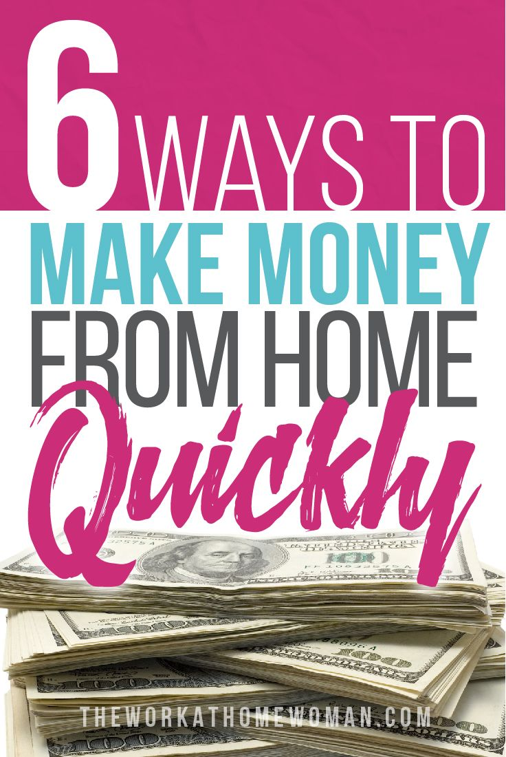 On my quest to make money from home, I not only searched online for work at home jobs, I sold used items, and participated in paid focus groups. Anything I could do to make or save money, I did it. If you're looking to work from home and you need to make money quickly, here are 6 easy ways to start earning cash FAS