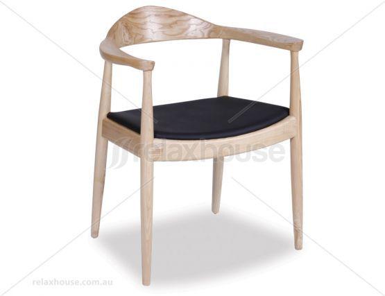 Hans Wegner Round Arm Chair Natural