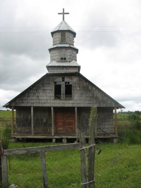 One of the many retired churches sprinkled around the island of Chiloe