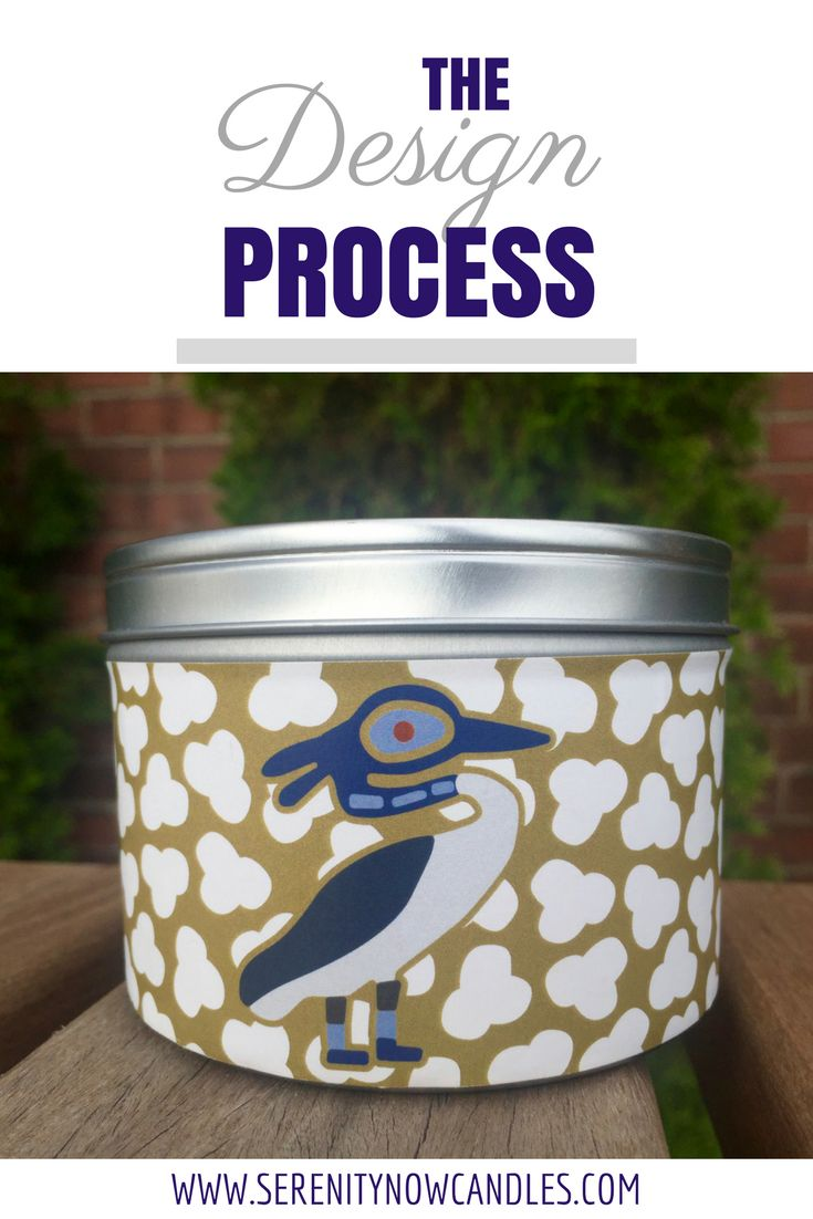 Serenity Now Candles: The Design Process. Find out the process behind creating the labels! And where the inspiration came from.