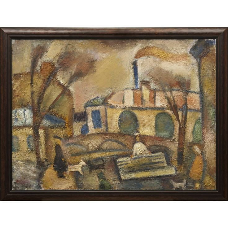 Живопись : Лот 87. Егошин Герман Павлович (1931-2009) «Выгул собак» Антиквариат, купить антиквариат, антикварный аукцион.