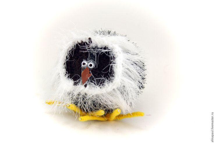 Купить игрушка Сова полярная (совенок, совы, гарри поттер) - чёрно-белый, сова
