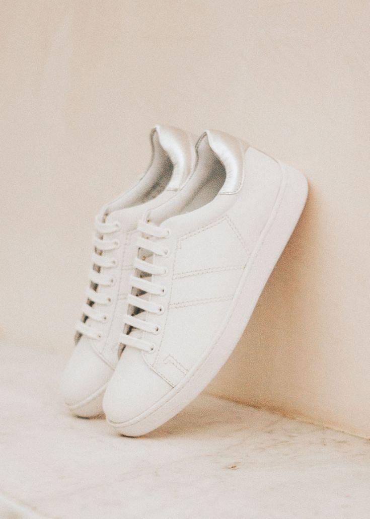 Lena White + Silver Sneakers //