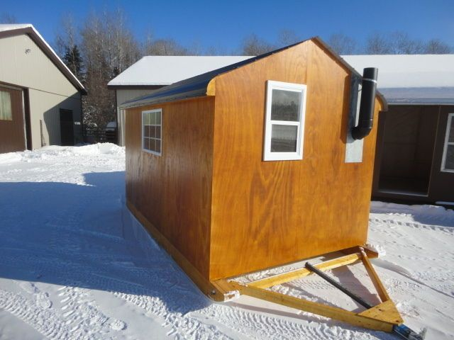 17 best images about ice hut shed kids house on for Ice fishing huts
