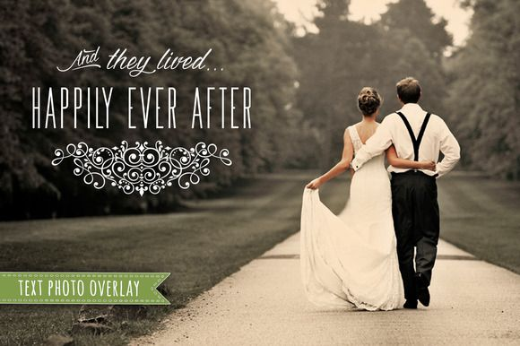 Wedding Phrase Overlay for Photos by Studio29 on Creative Market