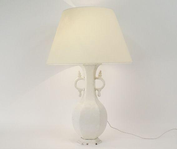 Grande lampe en faience XIXème siècle H : 89 cm www.jifcollin.com