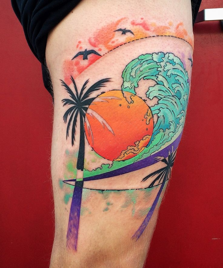 17 best images about tattoo nature scenes on pinterest for Beach scene tattoos