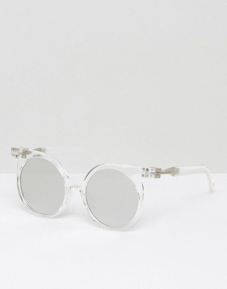 Get this 7X's sunglasses now! Click for more details. Worldwide shipping. 7X Clear Lens Round Sunglasses - Clear: Sunglasses by 7X, Transparent frames, Moulded nose pads for added comfort, Tinted lenses, Slim arms with curved temple tips for a secure fit, UV protection. (gafas de sol, gafa de sol, sun, sunglasses, sonnenbrille, lentes de sol, lunettes de soleil, occhiali da sole, sol)