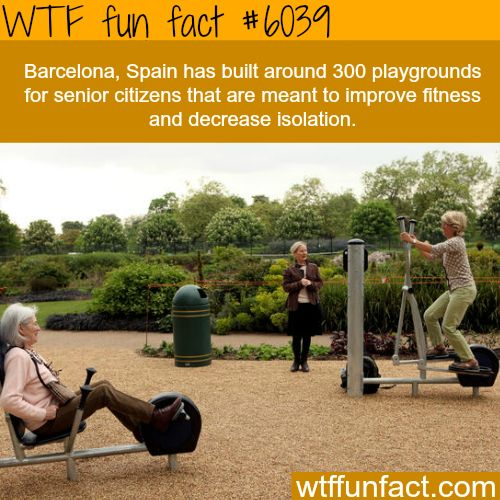 Science Facts Exercise: Barcelona, Spain Has Senior Playgrounds