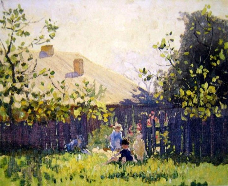 By the Garden Fence elioth gruner
