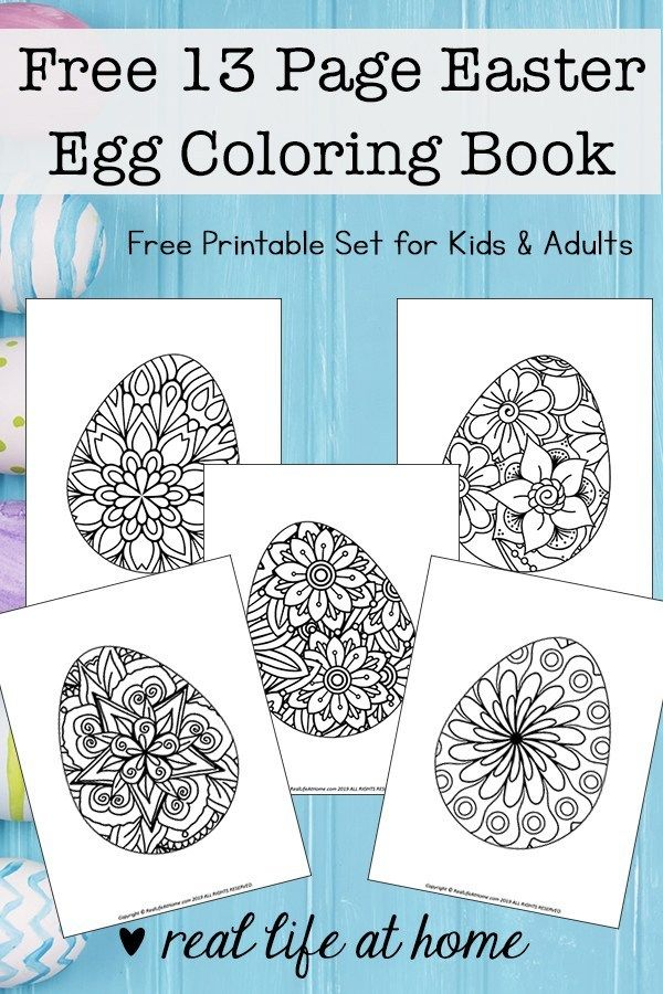 Easter Egg Coloring Pages for Kids and Adults Free