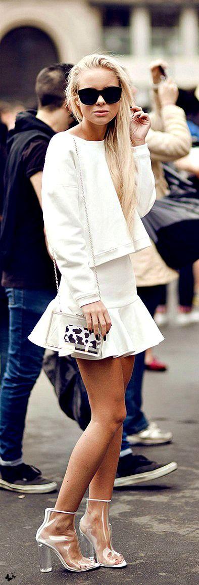 White Skirt styled by Victoria Tornegren.