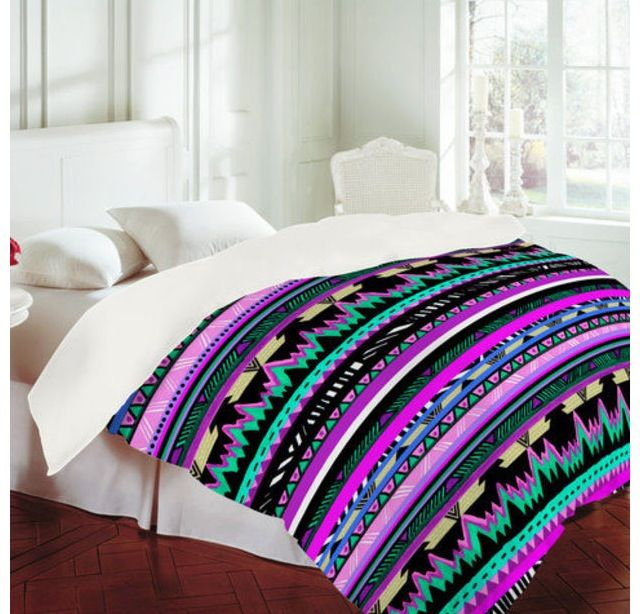 Purple Tribal Print Bed Covers Too Cute College