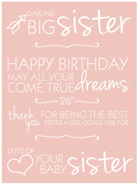 @Brandi Dean Withrow take away the 26th and replace it with 25th! I LOVE YOU SO MUCH SISSY! HAPPY BIRTHDAY