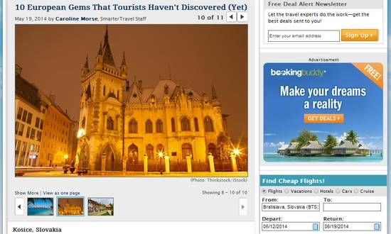 Kosice elencata tra le primi dieci destinazioni di viaggio da Smartertravel.com | BUONGIORNO SLOVACCHIA