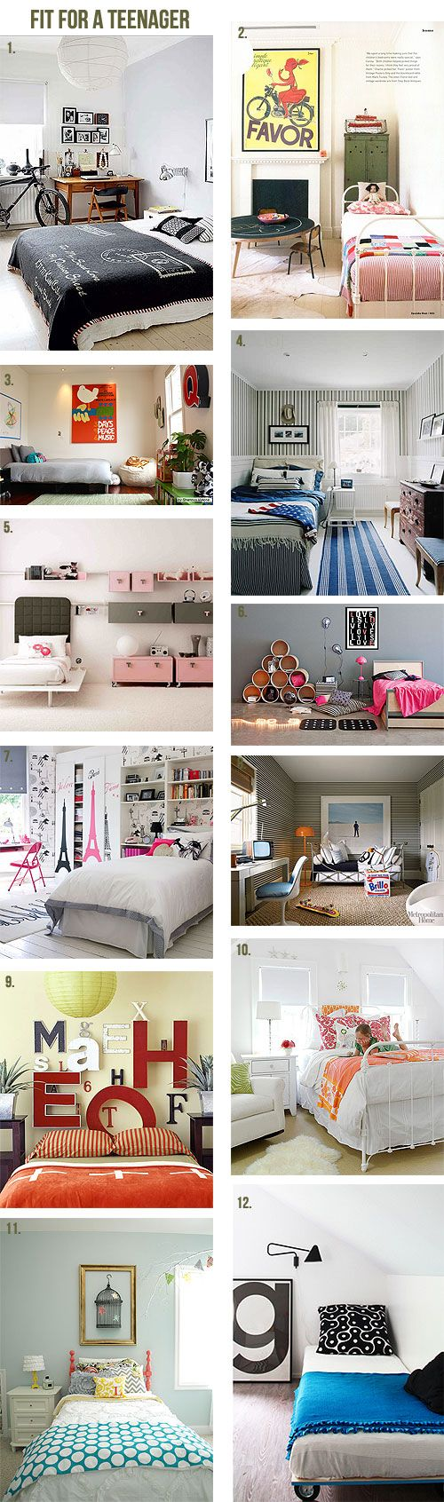 Teenage rooms they'll love! I would die to have any of these bedrooms