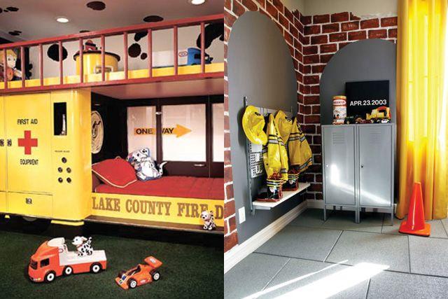 Habitaciones tem ticas peque os bomberos habitaciones - Habitaciones infantiles tematicas ...