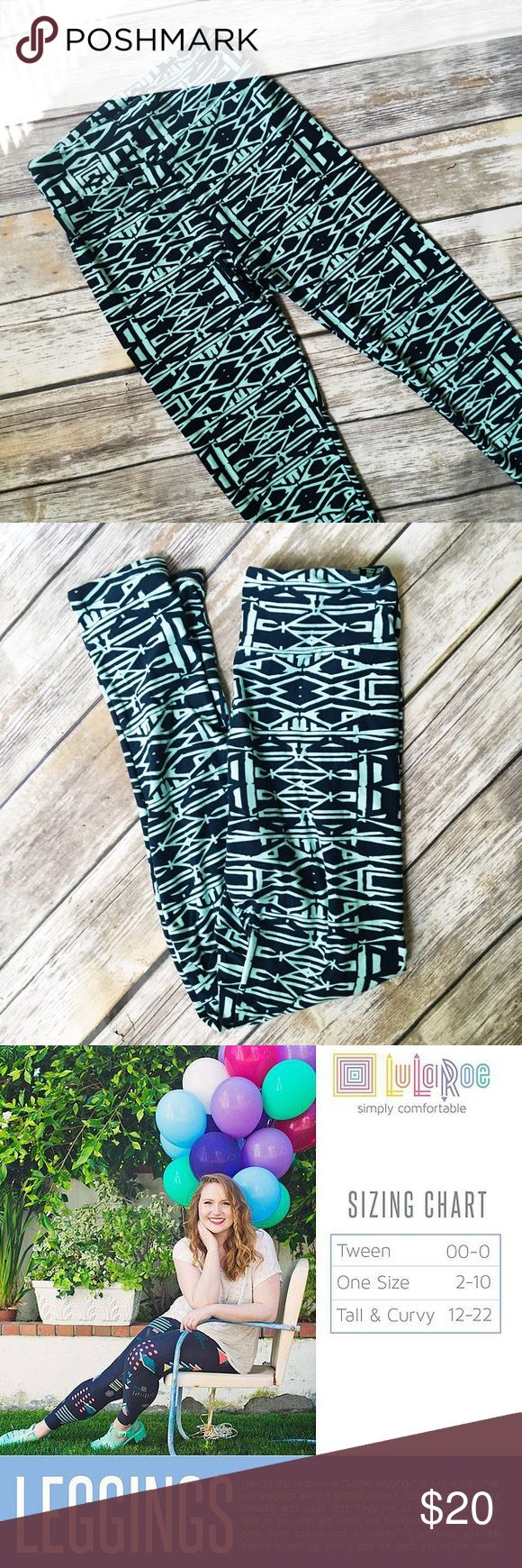 Lularoe One Size Green Tribal Print Leggings  ★ Great condition! ★ These awesome tribal print leggings from Lularoe are a must have and perfect for any season!  ★ NO TRADES OR MODELING!  ★ Poshmark Suggested User! Shop with confidence. :) LuLaRoe Pants Leggings