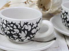 Pair of Espresso Cups - Geometric Pattern
