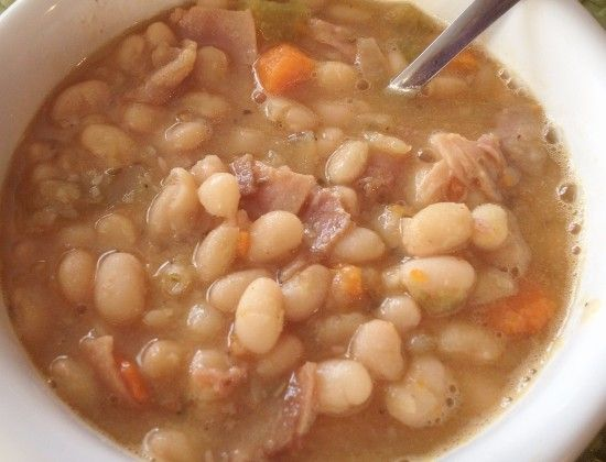 Post image for Slow Cooker Ham and White Bean Soup [Recipe]