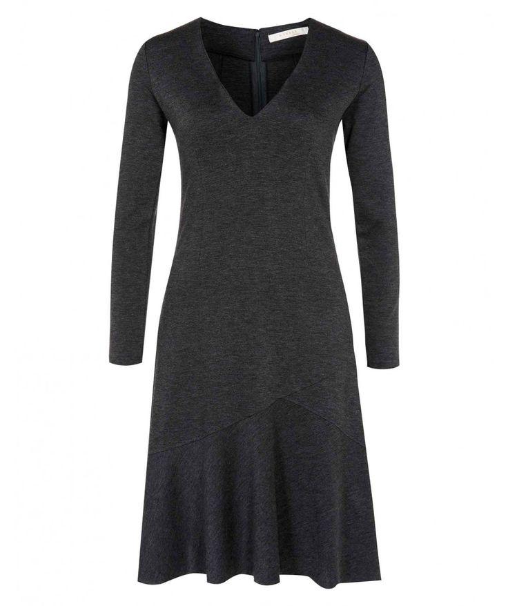 Melange Asymmetric Flared Dress