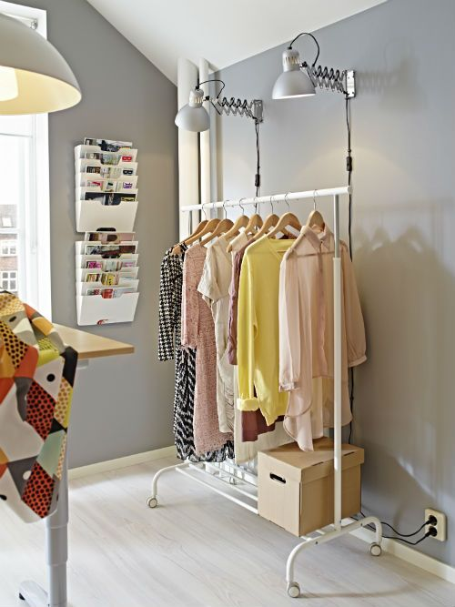 ikea rigga clothes rack you can easily adjust the height to suit your needs as the clothes rack can be locked in place at 6 fixed levels