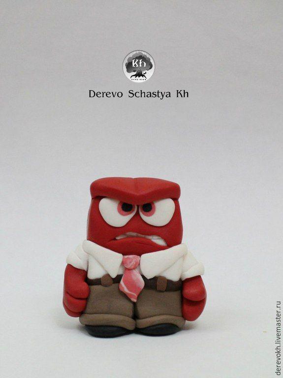 Купить игрушки фигурки на торт Головоломка Печаль и Гнев - разноцветный, головоломка мультик, головоломка печаль