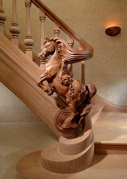 This is beautiful! Sculpted horse staircase by Jop van Driel