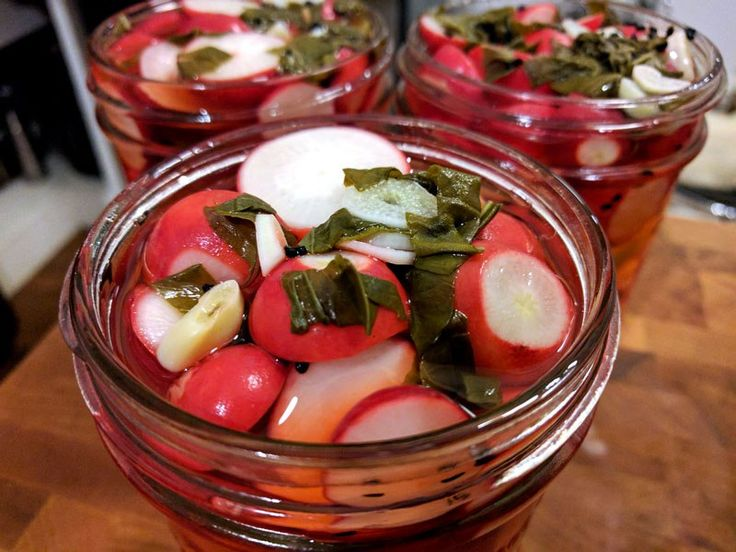 Basil & Lime Pickled Radishes- Putting Up with Erin