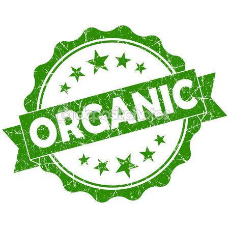 selo orgânico verde vintage redonda grunge isolado no fundo branco — Imagem Stock #37500149
