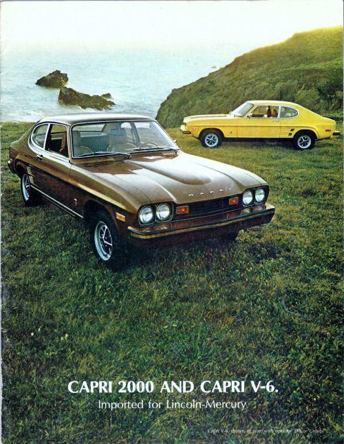 1973 Ford Capri 2000 and Capri V-6