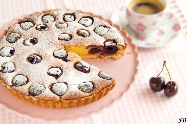 Carolines blog: Cherry pie with frangipane
