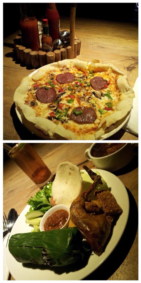 West meets east - At Api Unggun Bar & Pizza Jl. Raya Lembang Bandung