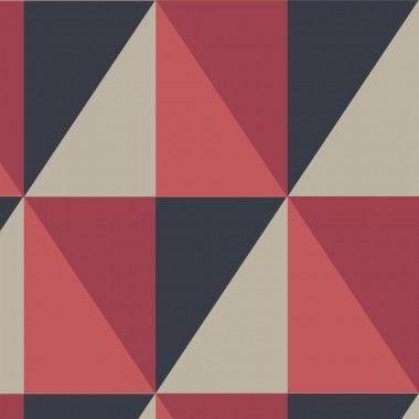 Papier peint géométrique rouge Apex - Cole and Son - Au fil des Couleurs