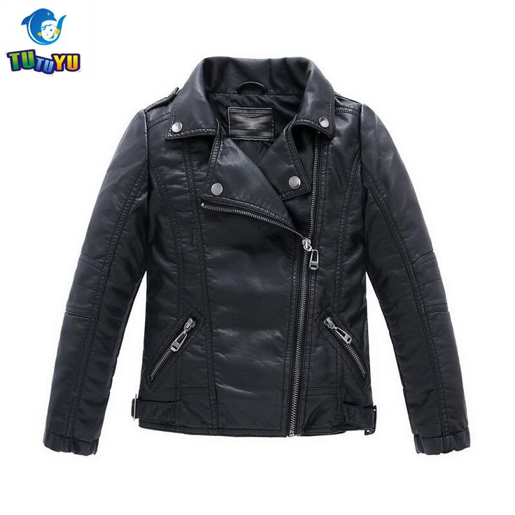 TUTUYU 2017 New Boys Leather Jacket Children Casual Black Coat Solid Teenager Clothes Outerwear Kids Winter Leather Jackets