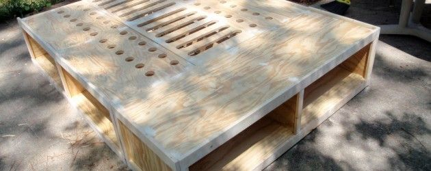 """DIY storage bed: """"considering"""" since I'm still not jazzed about the bedroom furniture here either"""