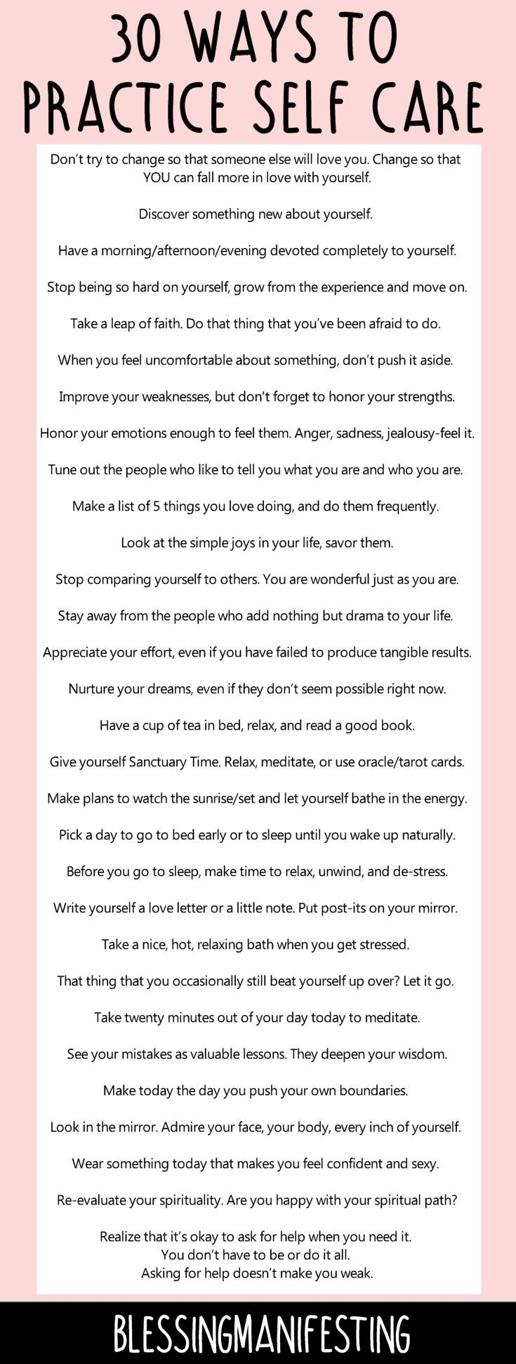 60 ways to practice self care and love yourself!
