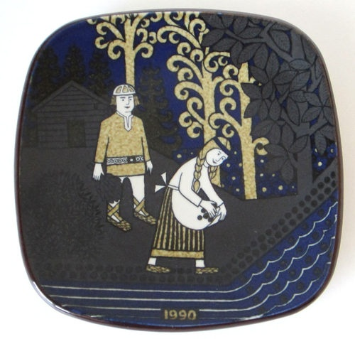 Arabia of Finland Kalevala Annual Wall Plate 1990