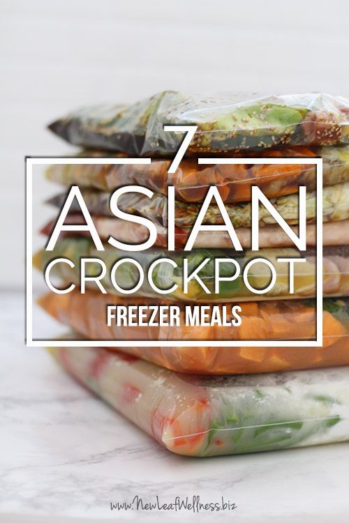 7 Asian Crockpot Freezer Meals In Two Hours