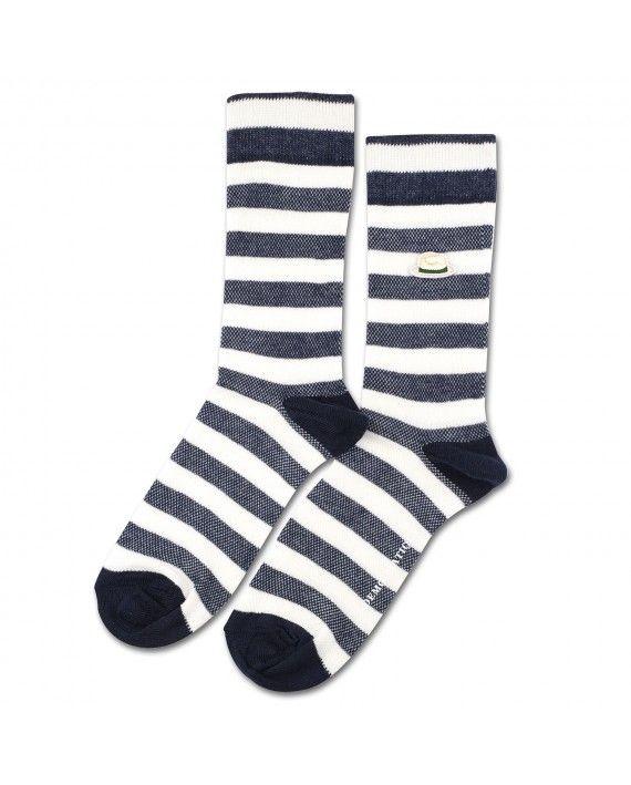 Fonda Sublime x Democratique Socks Originals Pique Broken White / Navy / Hat patch