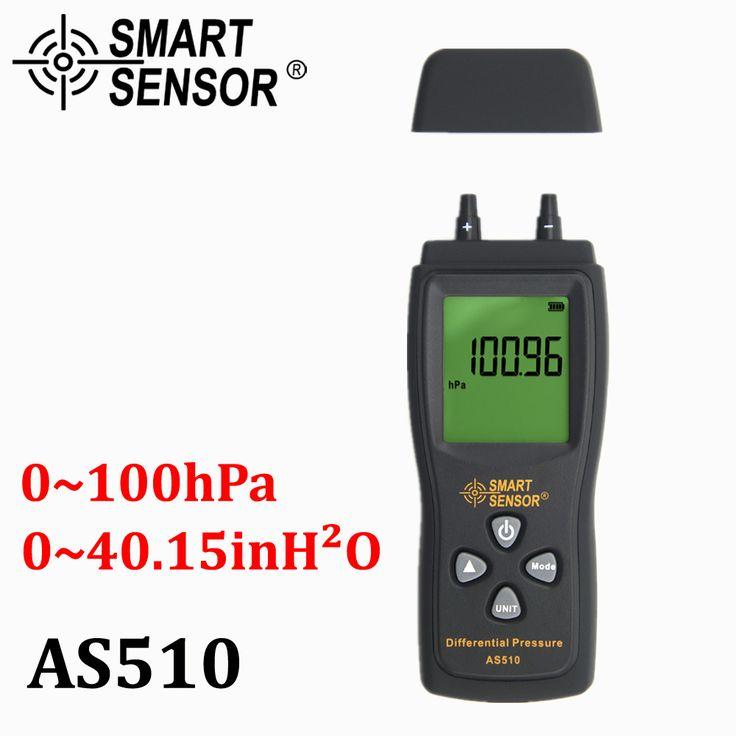 Manometer Digital air pressure Differential Pressure Meter 0-100 hPa/0-45.15 in H2O digital negative vacuum pressure gauge meter