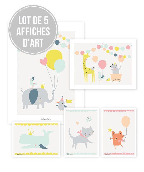 Animals Party Girls - Poster set (van 5)