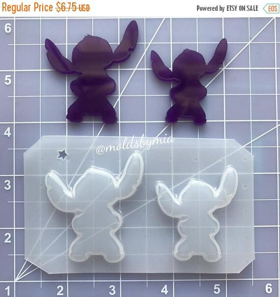 ON SALE New! Stitch flexible plastic resin mold set ~ 2 pc by MoldsbyMia on Etsy https://www.etsy.com/listing/530714248/on-sale-new-stitch-flexible-plastic