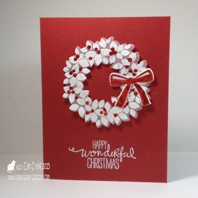 349 best CARDS-Christmas-Wreaths images on Pinterest | Christmas ...