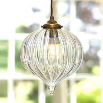 Pendant Lighting | Ava Sparkling Glass Pendant Light