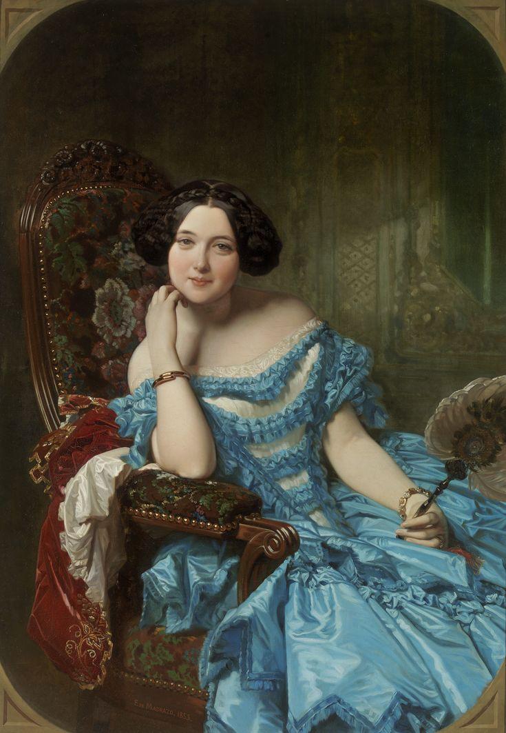 Amalia de Llano y Dotres, condesa de Vilches by Federico de Madrazo y Kuntz (1853) Museo Nacional del Prado, Madrid. Amalia de Llano y Dotres was a countess and author.