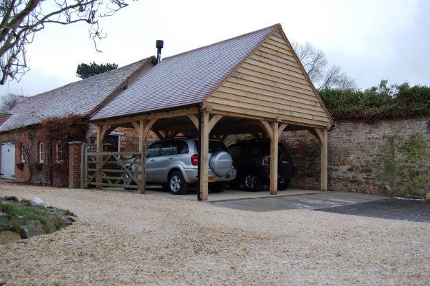 1000 images about bespoke oak framed garages on pinterest for 2 bay carport